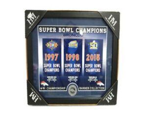 NFL Denver Broncos Highland Mint Super Bowl Champions Banner FAN Collection New