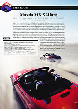 2011 Mazda Mx-5 Mx5 Miata Original 10-Best Car Print Article J320