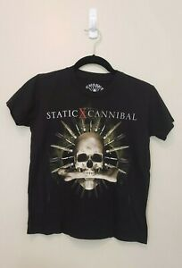 Static X 2007 The Cannibal Killers Tour Black Concert T Shirt Youth Size Medium