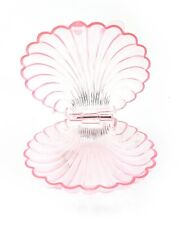 12 Extra Large Plastic Shell Candy Boxes pink clear