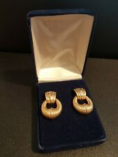 Cabouchon round earrings gold plated new