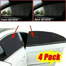 4Pcs Pack Car Front&Rear Side Window Shade Screen Cover Sunshade Privacy Curtain