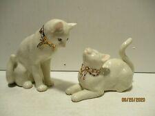 """Lenox """"Awake to a Kiss""""Jeweled Cats Figures Figurines Set"""