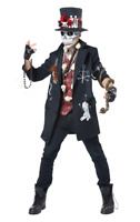 Mens Voodoo Dude Day of the Dead Halloween Fancy Dress Costume