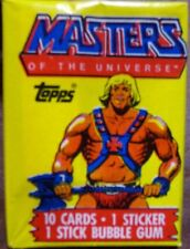 HE MAN HEMAN MASTERS OF THE UNIVERSE MOTU WAX PACK CARDS UNOPENED RARE!! VHTF