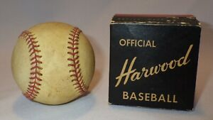 Vintage Harwood Official League Baseball Probably 50s-60s w/Box
