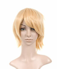 Blonde Styled Short Length Cosplay Costume Wig