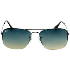Ray-Ban Flip Out Alloy Glossy Black Sunglasses Blue Lens RB3482 002/79 59