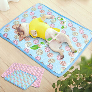 Soft Ice Silk Pet Cooling Mat Pad Bed Summer Cushion Dog Cat Puppy Breathable