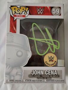 WWE JOHN CENA SIGNED AUTOGRAPHED INVISIBLE WWE EXLUVISE FUNKO POP 59 JSA