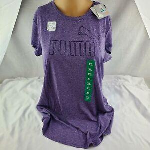 Puma Ladies ESS Logo SS Tee Purple Heather US Size XL