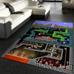 Super Mario Bros Area Rug The Pit
