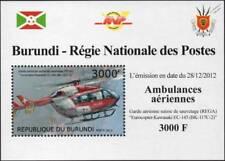 EUROCOPTER EC145 REGA Swiss Air Ambulance Helicopter Aircraft Stamp Sheet 2/2012