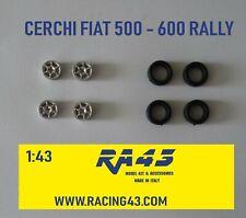 1/43 Cerchi Wheels Fiat 500 600 Cinquecento Rally