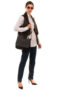 NALI Crossbody Satchel Bag PU Leather Braided Trim Magnetic Flap Closure