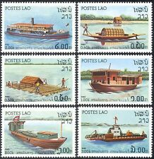 Laos 1982 River Craft/Ships/Maritime/Boats/Nautical/Transport 6v set (b8019)