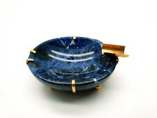 Antique Imperial Russian Cigarette Natural Lapis Lazuli 56 Gold 14K Ashtray Bowl