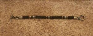 VERSANI Bocote Wood & Sterling Silver Bracelet Key Design & Wood Bars