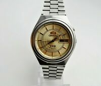 VINTAGE ORIENT AUTOMATIC 3 STAR DAY & DATE MEN'S WRIST WATCH