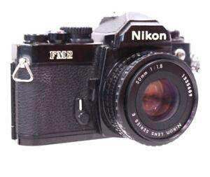 NIKON FM2 SLR Camera With Nikon Series E 50mm f/1.8 AI-S Mount Prime Lens - E36
