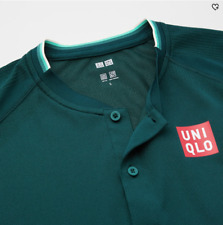 UNIQLO 2021 Roger Federer Qatar Open Dry-EX Polo Shirt (Green) USA