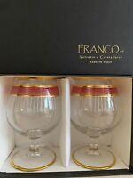 Franco Vetrerie e Cristallerie Brandy/Wine Glasses - Italy