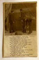 Harbour Lights RPPC Postcard Nautical Ocean Liner British Poem Song Antique 1911