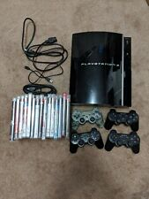 Playstation 3 PS3 Fat Console 80GB CECHK01 Bundle w Wireless Controller & Games