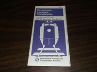 OCTOBER 1980 CONRAIL/SEPTA LANSDALE/DOYLESTOWN-PHILADELPHIA PUBLIC TIMETABLE