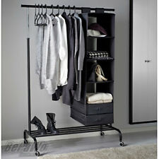 IKEA RIGGA Garderobenstaender Kleiderstaender mit Rollen  Garderobe schwarz NEU