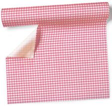 Tischläufer - Vichy rose kariert - Vichy rosé - Tischband - Rolle 1x NEU