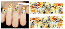 Nail Art Sticker Water Decals Transfer Stickers Leopard Print Giraffes (DX1497)