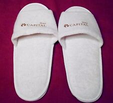 Slippers from the Capital Hotel White in Room or Spa Size 10 Large