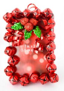 St. Nicholas Square Photo Picture Holder   Red Jingle Bells  2x3 Inches