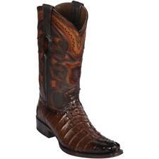 Men's Los Altos Genuine Caiman Tail Western Boots Square Toe Wide Width