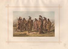 1882 GRANDE STAMPA D'EPOCA-aborigeni del Nord America