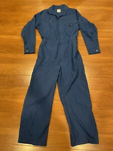 Workrite Flame Resistant 46R L Large Nomex One Piece Coveralls FR Royal Blue