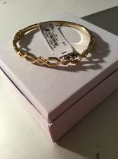 $48 Ivanka Trump Gold Tone Open Work Geometric  Clasp Bracelet #305