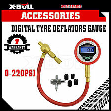 X-BULL Digital Rapid Tyre Deflator Deflators Gauge Recovery 4X4 Off Road 4WD