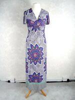 NWOT M&S Per Una Ladies Size 12 Purple Print Maxi Dress #2