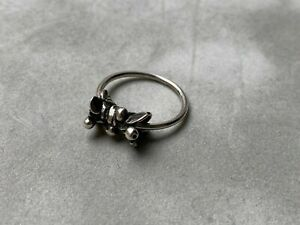 Genuine Retired Trollbeads Blueberries of Youth Silver Sliding Ring Size M