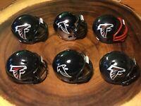 (6) Riddell Pocket Pro Football Helmets (Atlanta Falcons)