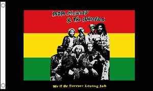 Bob Marley & The Wailers 5'x3' Flag Regge Rasta Festival