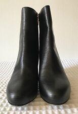 SERGIO ROSSI BLACK LIZARD Boots STUNNING  Size 3.5 UK, 6.5 USA, 36.5EU