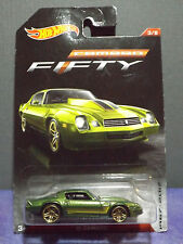 2017 HOT WHEELS CAMARO FIFTY '81 CAMARO in GREEN, No. 3/8 Long card