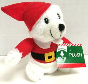 "Santa Polar Bear Plush 6"" Greenbriar Christmas House New With Tag Free Shipping"