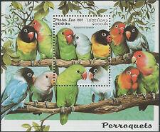 LAOS Bloc N°137 ** Bf Oiseaux, Perroquets 1997, Bird, Parrots Miniature Sheet NH