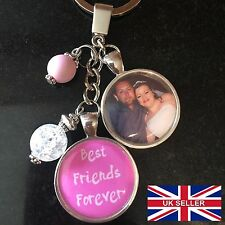 Personalised Photo Keyring - Best Friends Forever - Christmas Gift Key Ring
