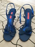 Betsey Johnson Blue Strappy Heels - Size 8