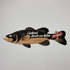 Vtg Leinenkugel's Beer fish walleye paper sign advertising Helped Stock Our Lake